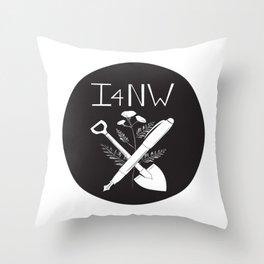 Shovel and Pen Throw Pillow