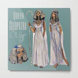 Cleopatra Cartoon  Metal Print