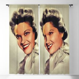 Frances Rafferty, Vintage Actress Blackout Curtain