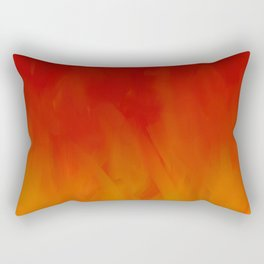 Flames of Gold Rectangular Pillow