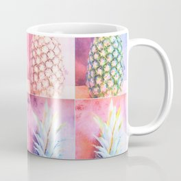 Colorful Pineapple Collage Coffee Mug