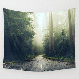 Redwood Forest Adventure - Nature Photography Wall Tapestry