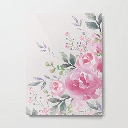 ROSES FLORAL BOUQUET Metal Print