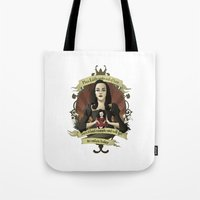buffy the vampire slayer Tote Bags featuring Drusilla - Buffy the Vampire Slayer by muin+staers