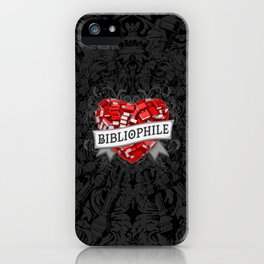Bibliophile Heart iPhone Case