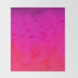 Fuchsia Fire Magenta Violet Ombre Throw Blanket