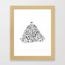 Pupper Pile Framed Art Print