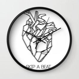 Skip a Beat Wall Clock