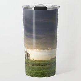 Sunset on Stonehenge Travel Mug