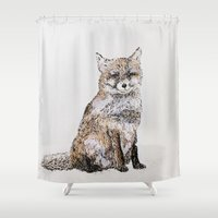 roald dahl Shower Curtains featuring Fox by Killerwinter
