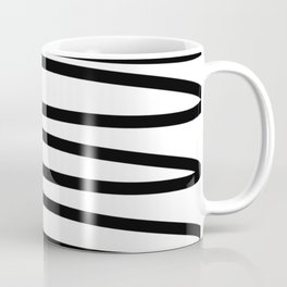 Simple black and white doodle Coffee Mug