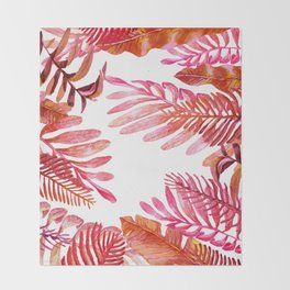 red tropical nature Throw Blanket