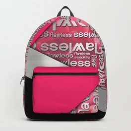 Silver Metallic Flawless Typography & Geometric Shapes Backpack