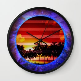 Synthwave Poster v.1 Wall Clock
