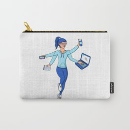 Super Freelance Woman Carry-All Pouch
