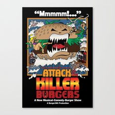 Attack of the Killer Burgers Canvas Print