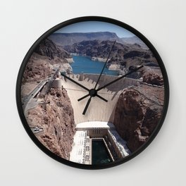 Hoover Dam Aerial View Wall Clock