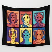 evolution Wall Tapestries featuring Cyberpop Evolution by Doodle Dojo