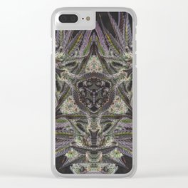 Purple Black Lime #2 Clear iPhone Case