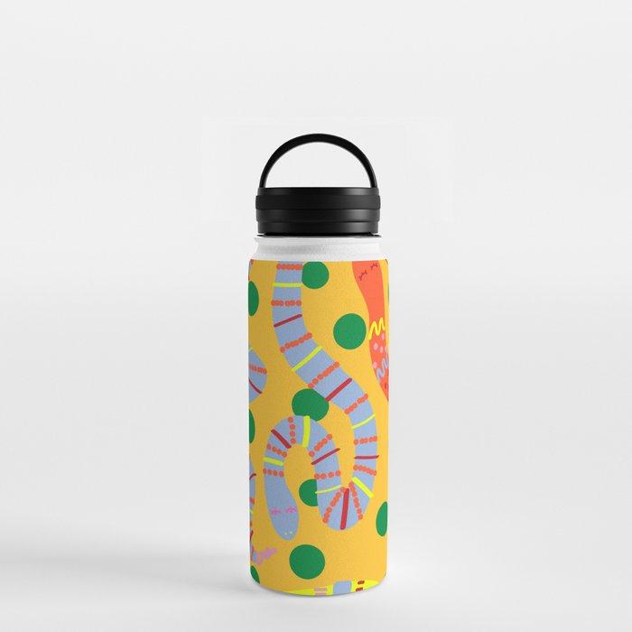 Polka Dot Snake Party Water Bottle