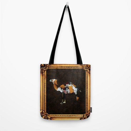 Camel Collage 3F Tote Bag