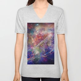 Galactic Mountain Unisex V-Neck