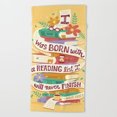 Reading list Beach Towel