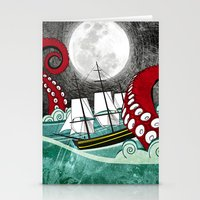 kraken Stationery Cards featuring Kraken by Beth Naeyaert