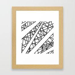 Lazer Dance X Framed Art Print