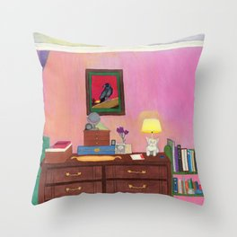 Bedroom in South San Gabriel Throw Pillow