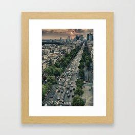 Champs Elysees HDR Framed Art Print