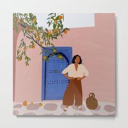 Pink Walls and Morocco Metal Print