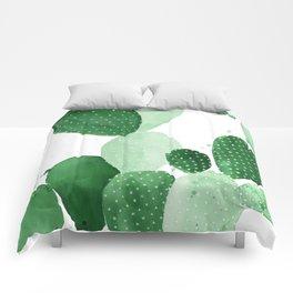 Green Paddle Cactus II Comforters