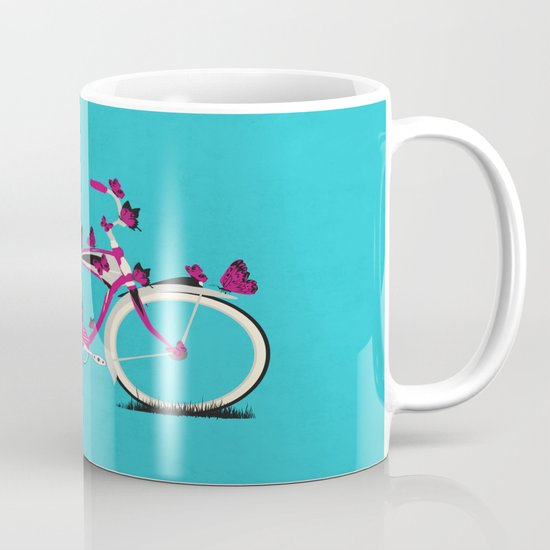 Butterfly Bicycle Mug