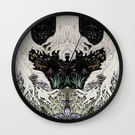 Starry Forest Wall Clock