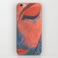 musa iPhone & iPod Skins featuring La Musa by Alme