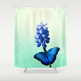 Blue bells on wings Shower Curtain