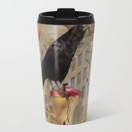 Raven in a City Travel Mug
