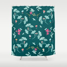Ginkgo Midori Shower Curtain