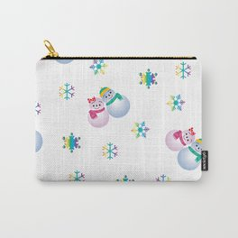 Snowflakes & Pair Snowman_F Carry-All Pouch