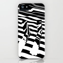 Black and White Leopard Feet iPhone Case