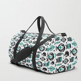 Deep Sea White Duffle Bag