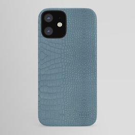 Turquoise Alligator Leather Print iPhone Case