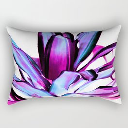 Plant Leaves Abstract Magenta Blue Purple Rectangular Pillow