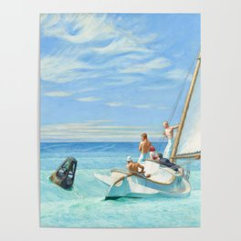 Ground Swell OIl Painting by Edward Hopper Poster