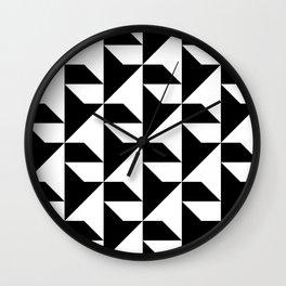 BW Tessellation 2 10 Wall Clock