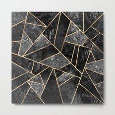 Black Stone 2 Metal Print