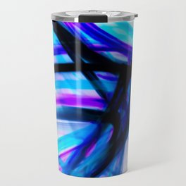 Attitude Abstract Digital Line Painting Travel Mug