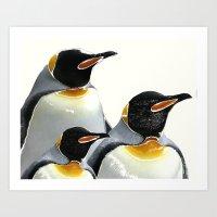 penguins Art Prints featuring Penguins by Regan's World