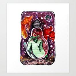 Monoposto fluttuante [floating seat] Art Print